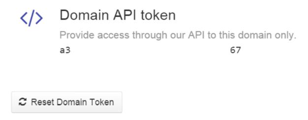 Domain -> Settings DNSimple Domain API token