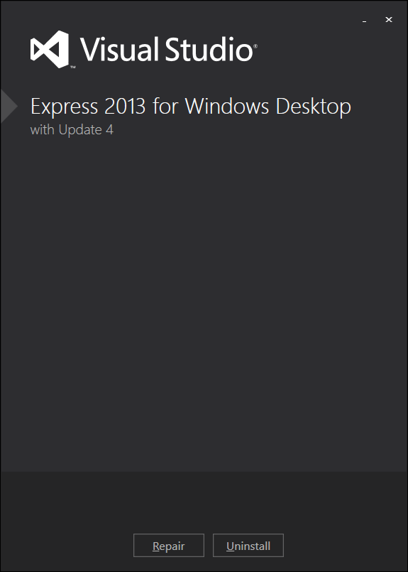 Visual Studio Express 2013 for Windows Desktop